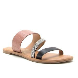 Three Band Bling Sandals